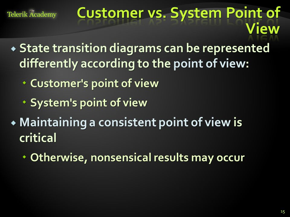 Customer vs. System Point of View