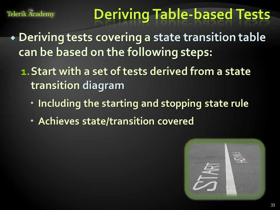 Deriving Table-based Tests