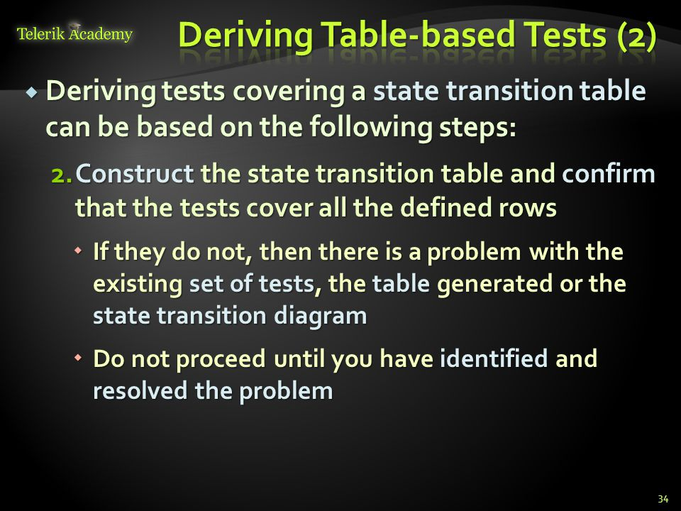 Deriving Table-based Tests (2)