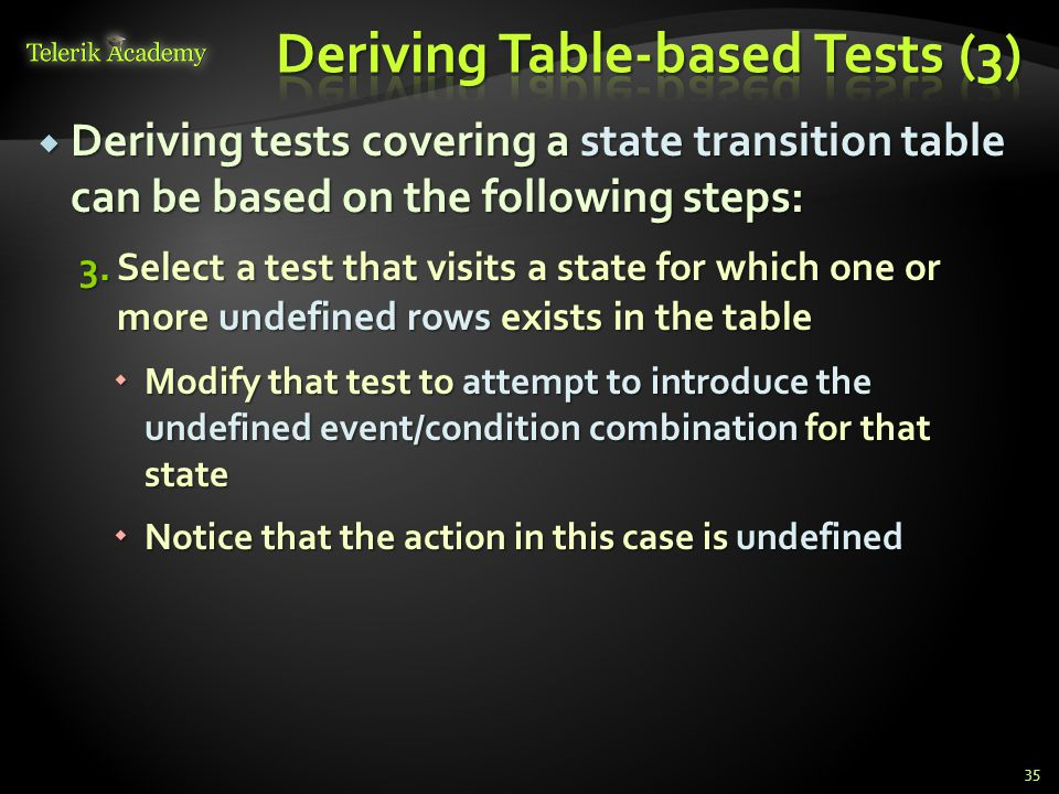 Deriving Table-based Tests (3)