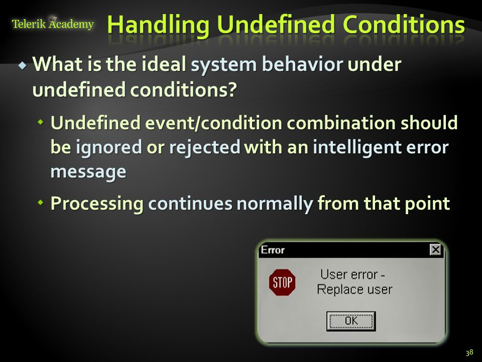 Handling Undefined Conditions