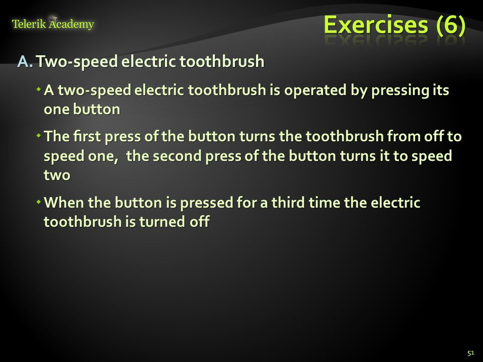 Exercises (6) Two-speed electric toothbrush