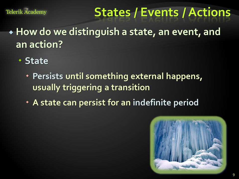 States / Events / Actions