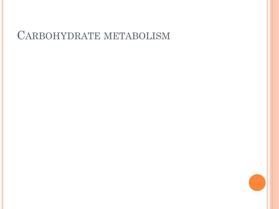 Carbohydrate metabolism