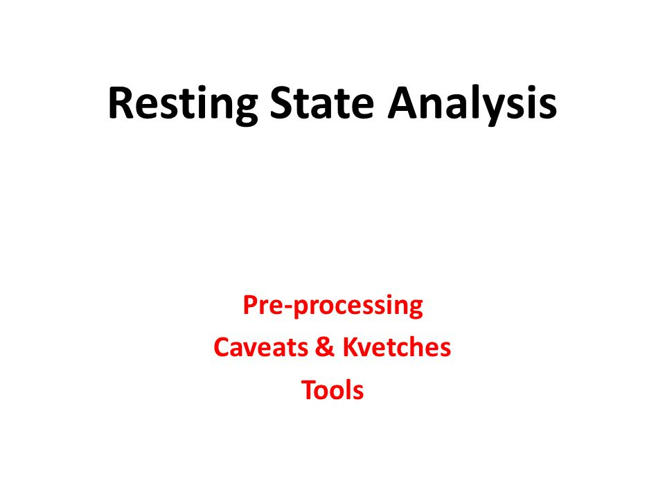 Resting State Analysis