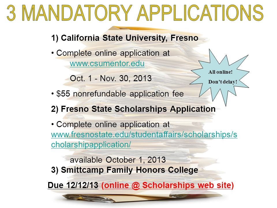 3 MANDATORY APPLICATIONS