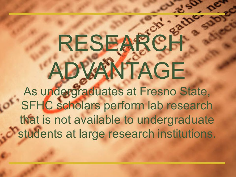 RESEARCH ADVANTAGE.