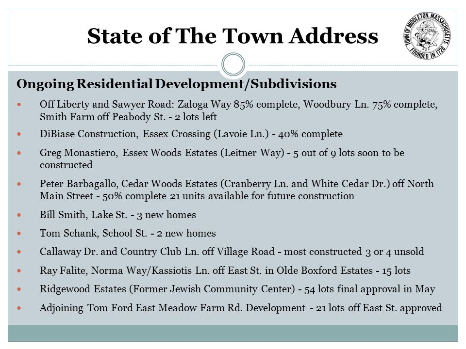 State of The Town Address