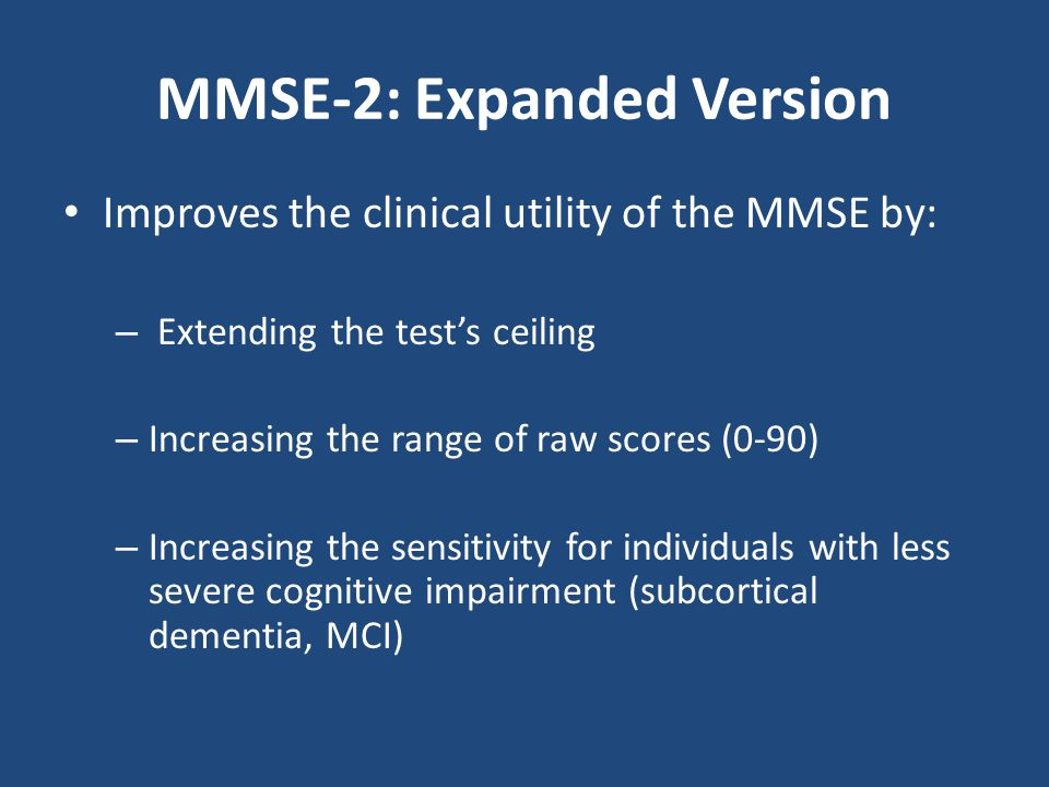 MMSE-2: Expanded Version