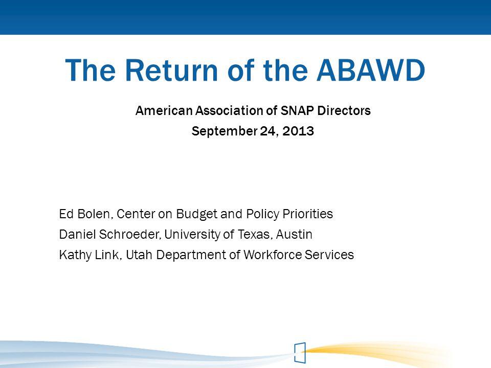 American Association of SNAP Directors