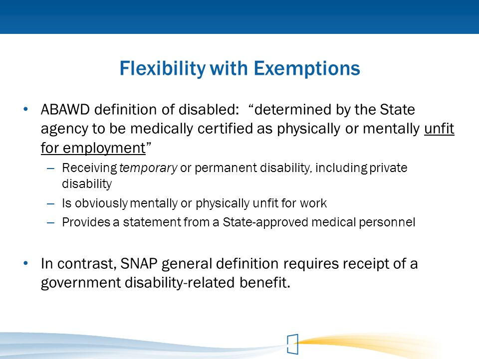 Flexibility with Exemptions