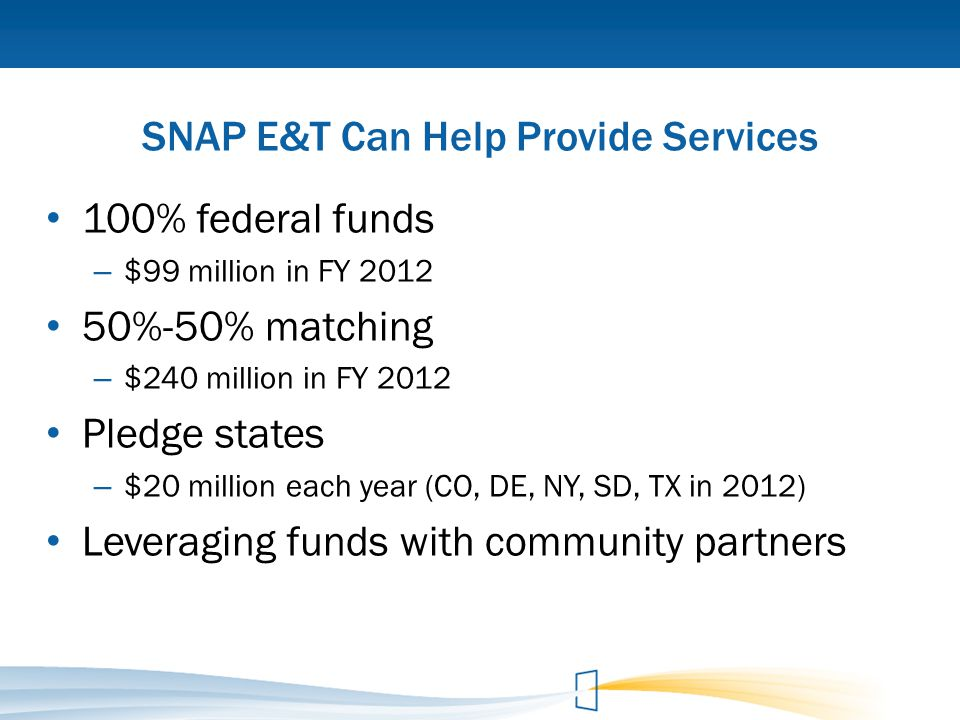 SNAP E&T Can Help Provide Services