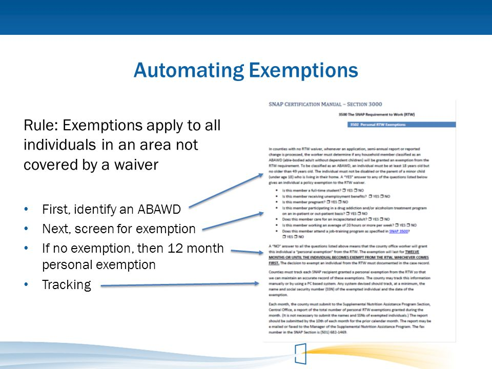 Automating Exemptions