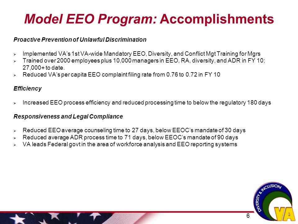 Model EEO Program: Accomplishments