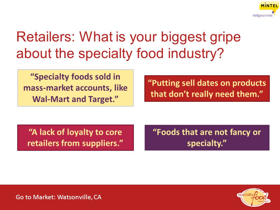 Retailers: What is your biggest gripe about the specialty food industry