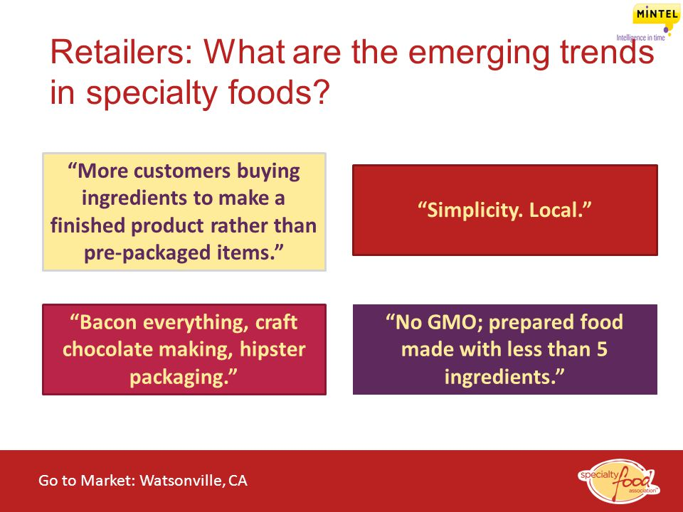 Retailers: What are the emerging trends in specialty foods