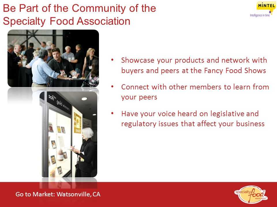 Be Part of the Community of the Specialty Food Association