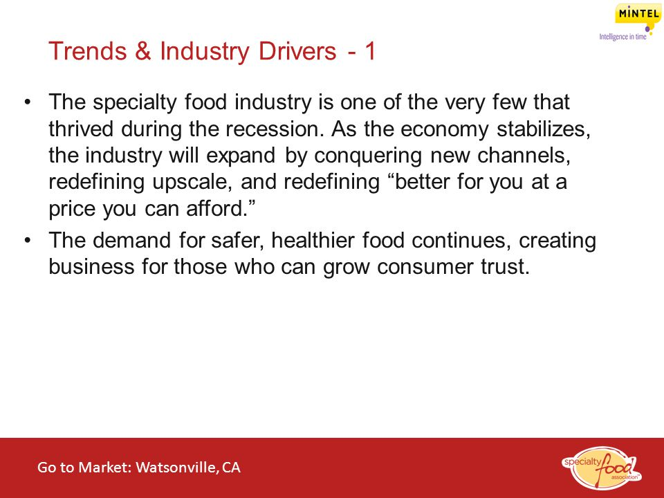 Trends & Industry Drivers - 1