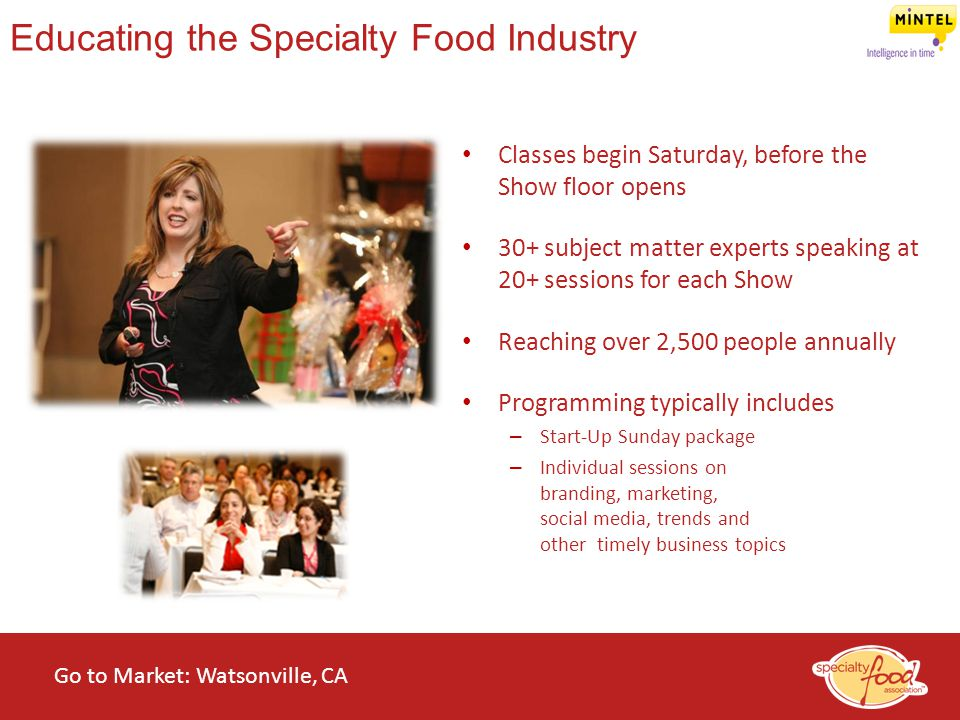 Educating the Specialty Food Industry