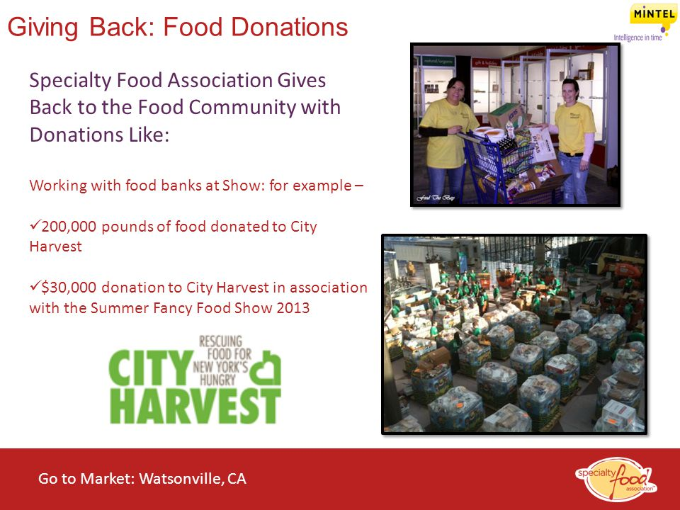 Giving Back: Food Donations