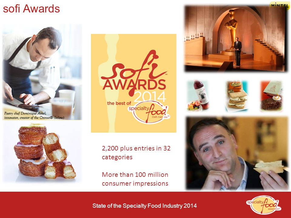 sofi Awards 2,200 plus entries in 32 categories
