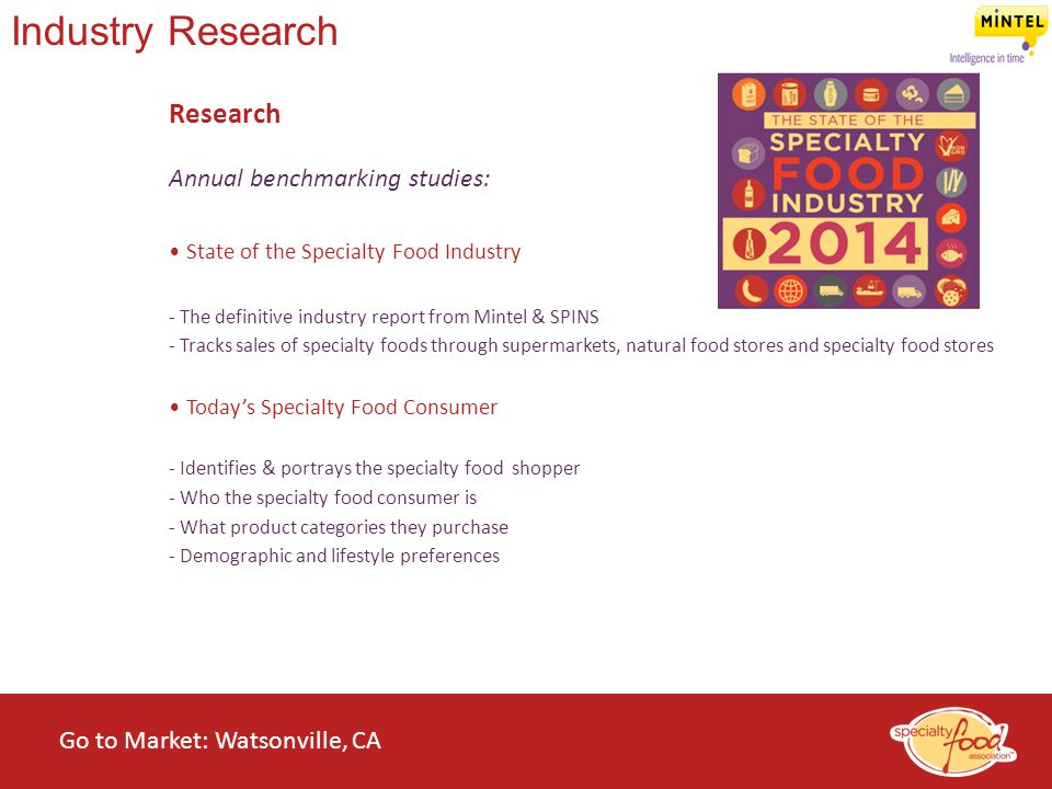 Industry Research Research Annual benchmarking studies: