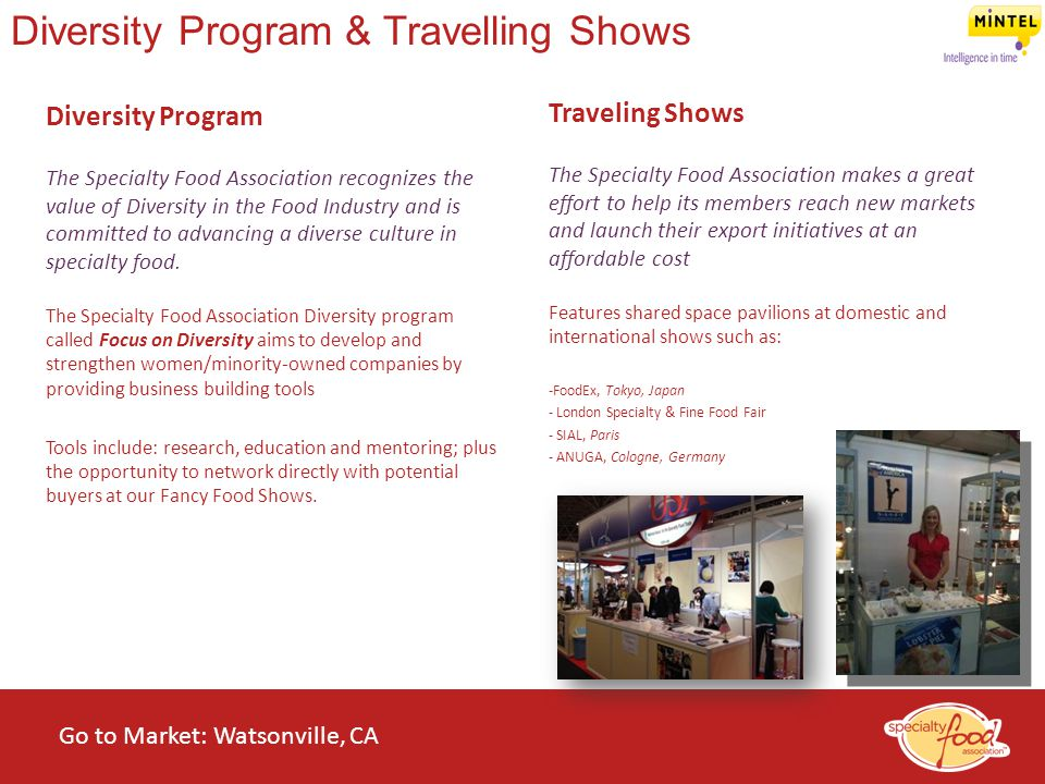 Diversity Program & Travelling Shows