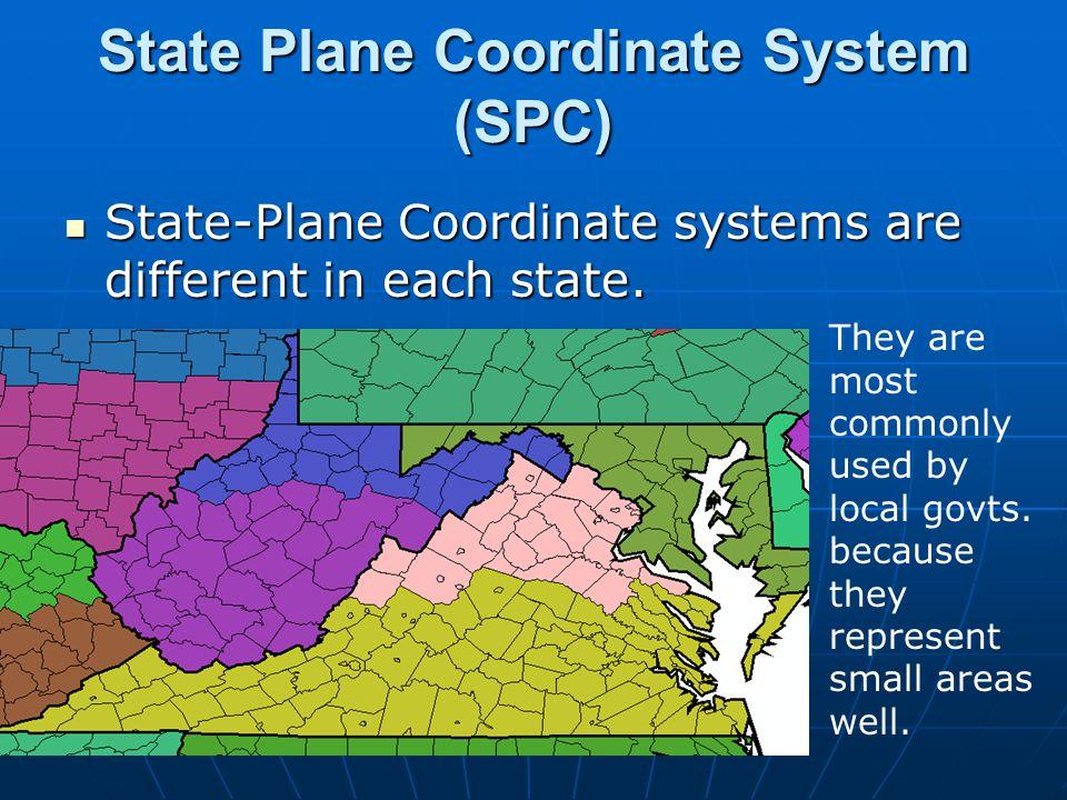 State Plane Coordinate System (SPC)