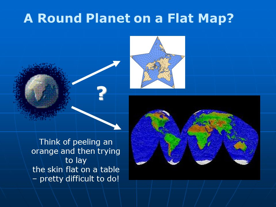 A Round Planet on a Flat Map