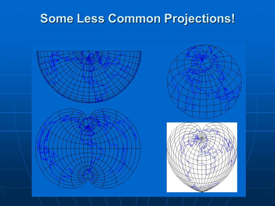 Some Less Common Projections!