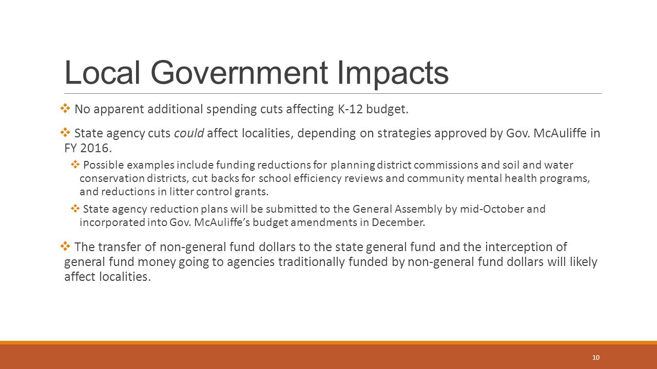 Local Government Impacts