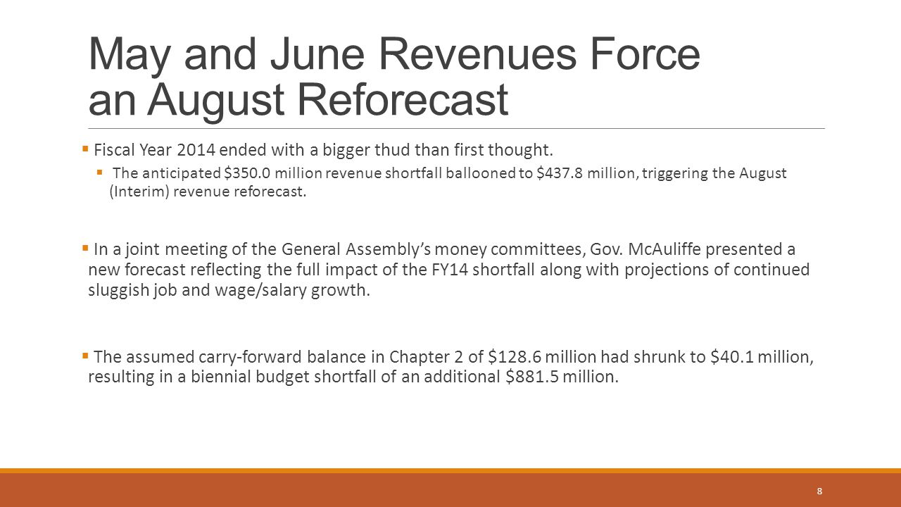 May and June Revenues Force an August Reforecast