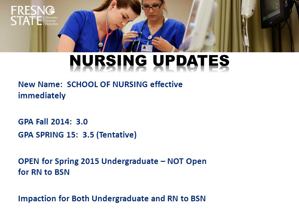 Nursing updates