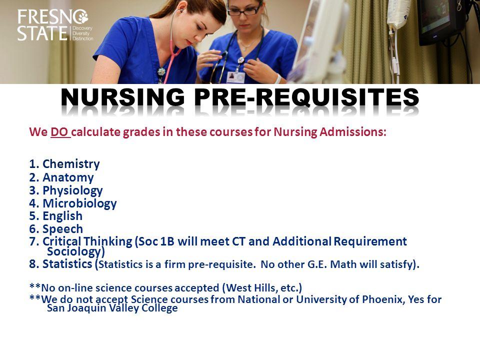 Nursing PRE-REQUISITES