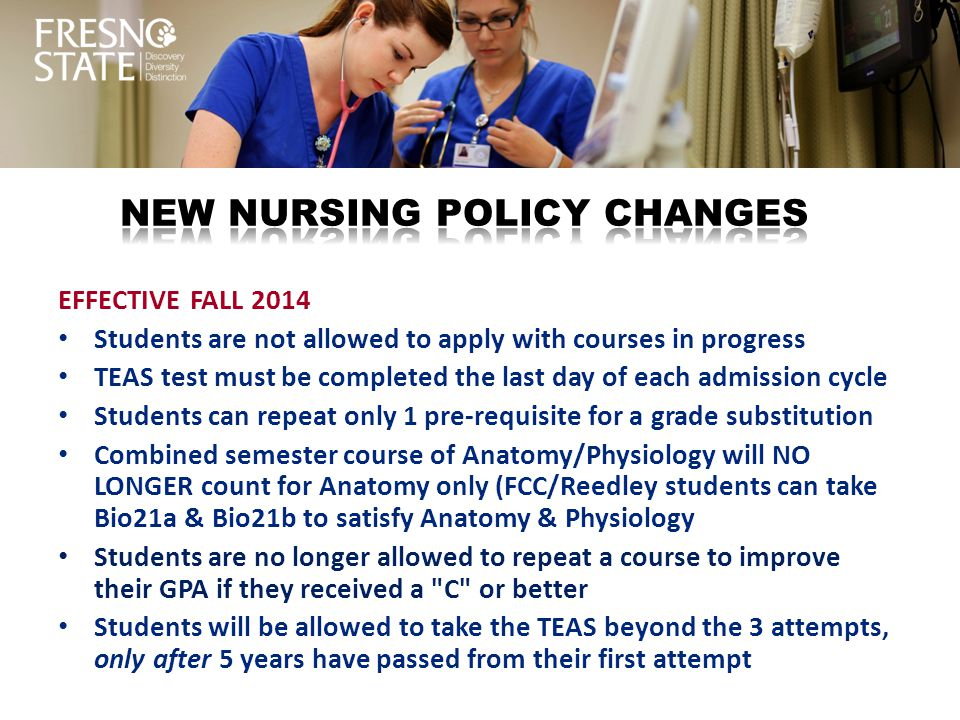 New nursing policy changes
