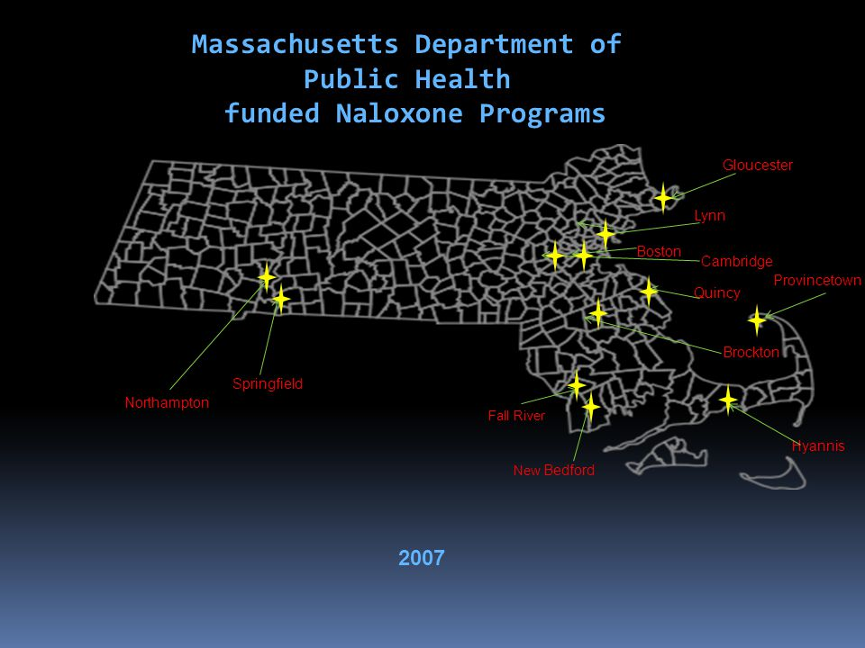 Massachusetts Department of Public Health funded Naloxone Programs