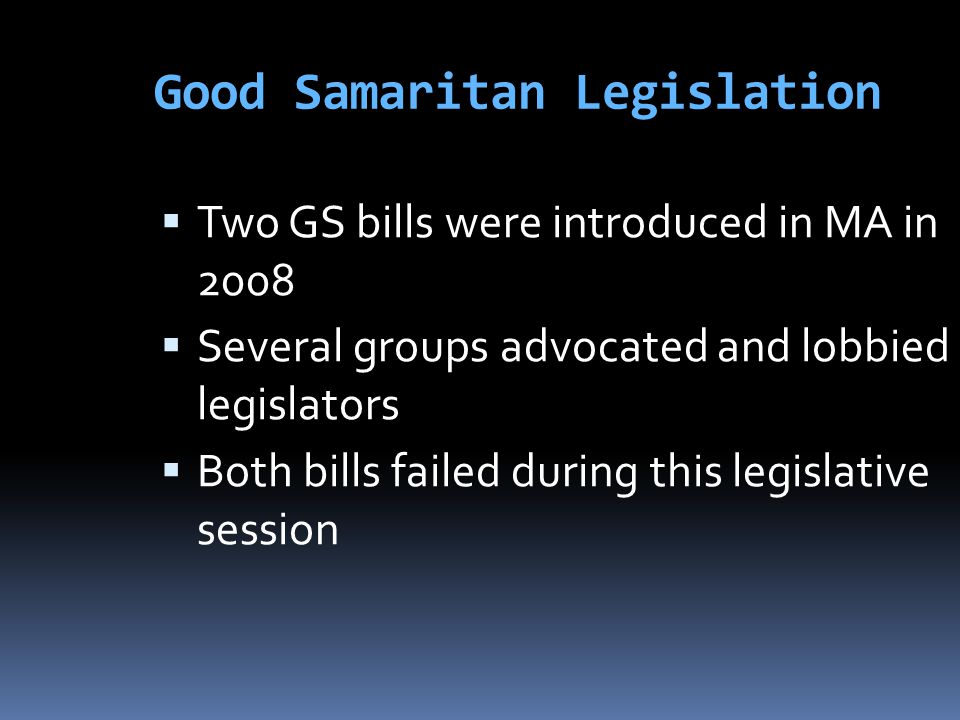 Good Samaritan Legislation