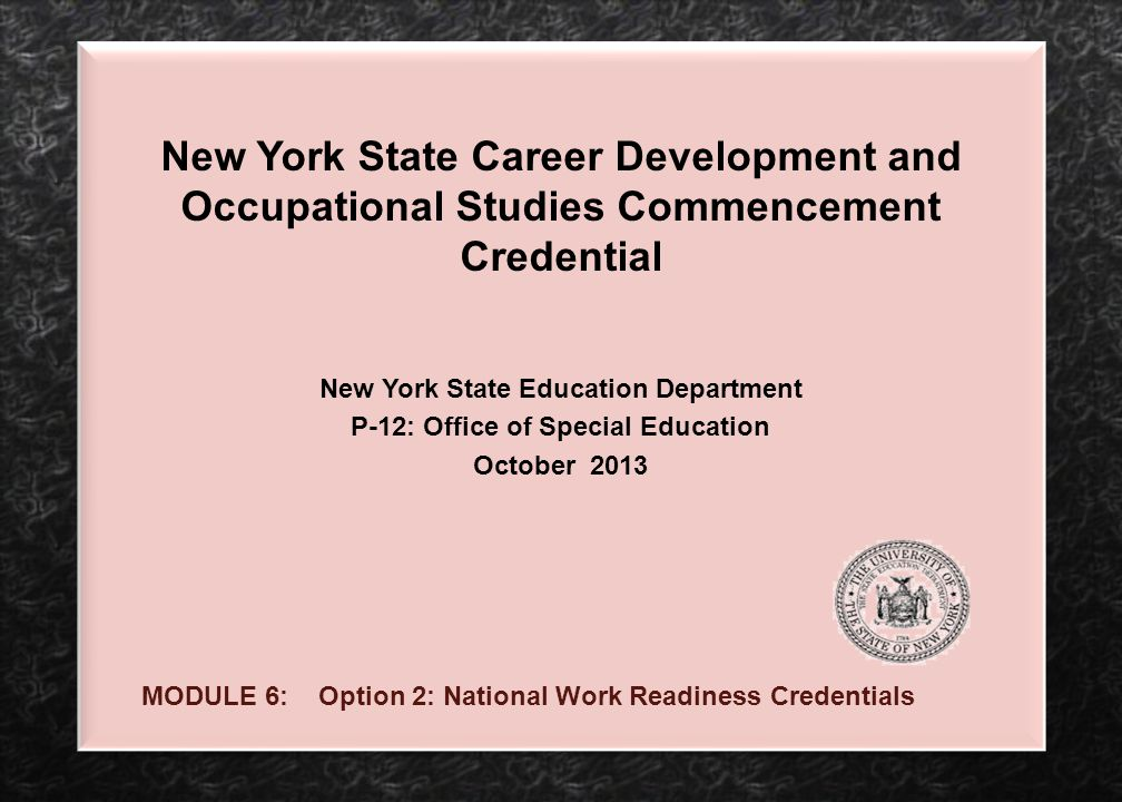 New York State Education Department P-12: Office of Special Education