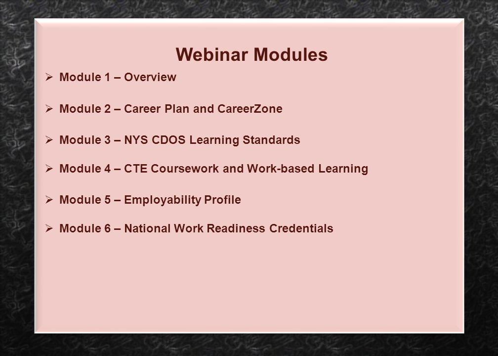Module 2 – Career Plan and CareerZone