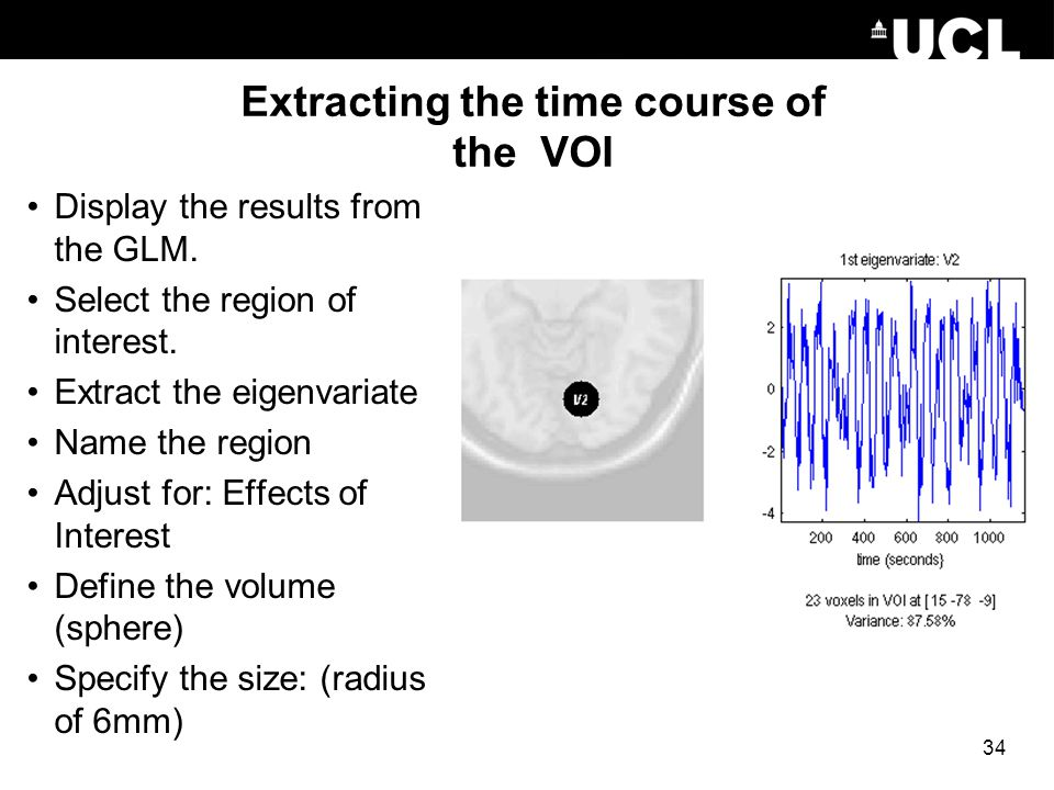 Extracting the time course of the VOI