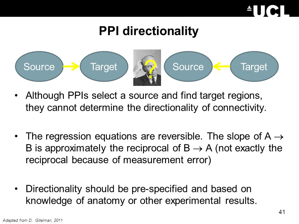PPI directionality Source Target Source Target