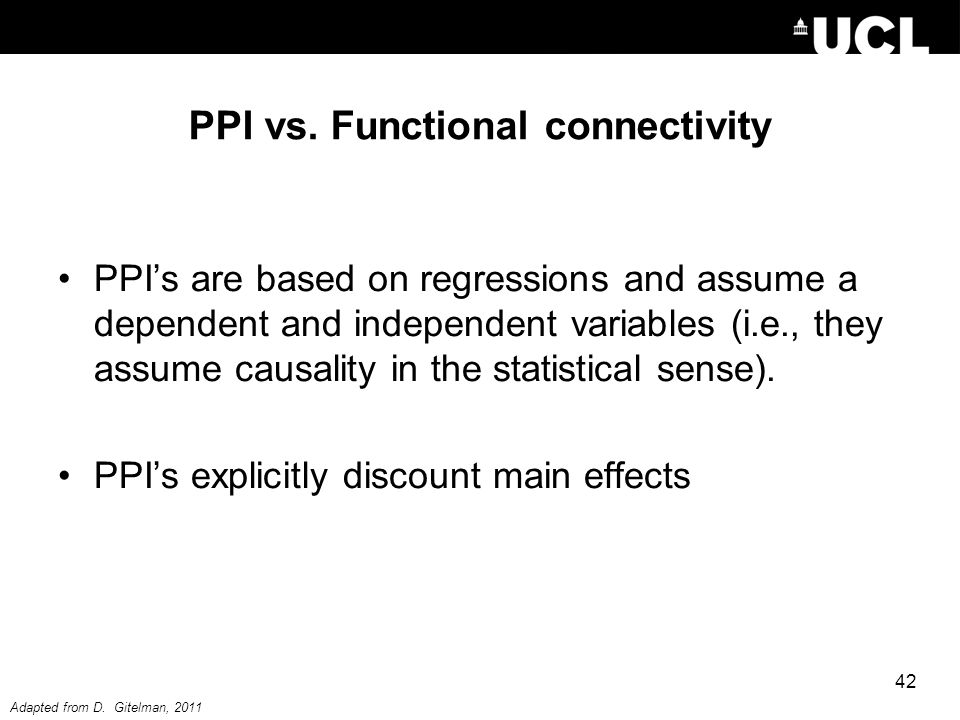 PPI vs. Functional connectivity