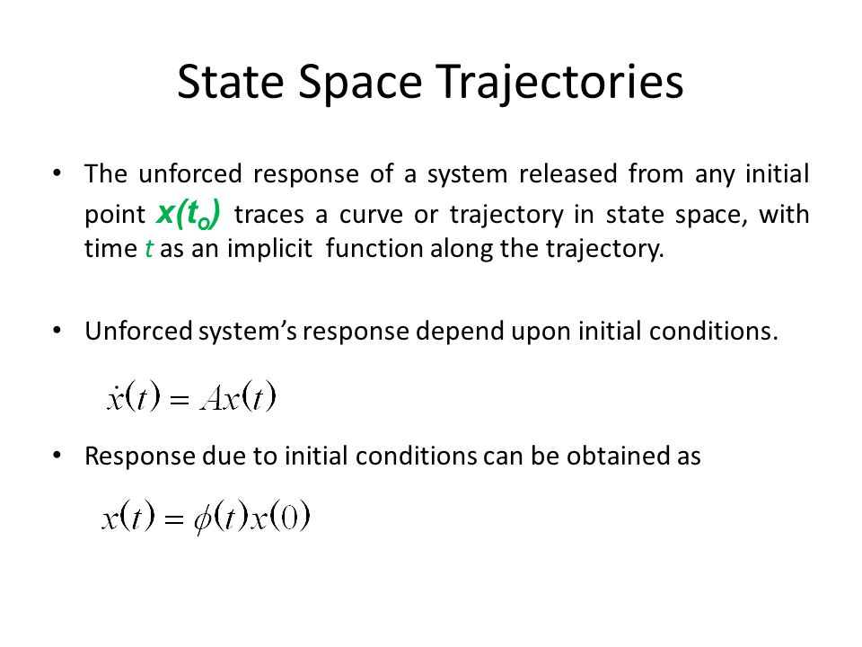 State Space Trajectories