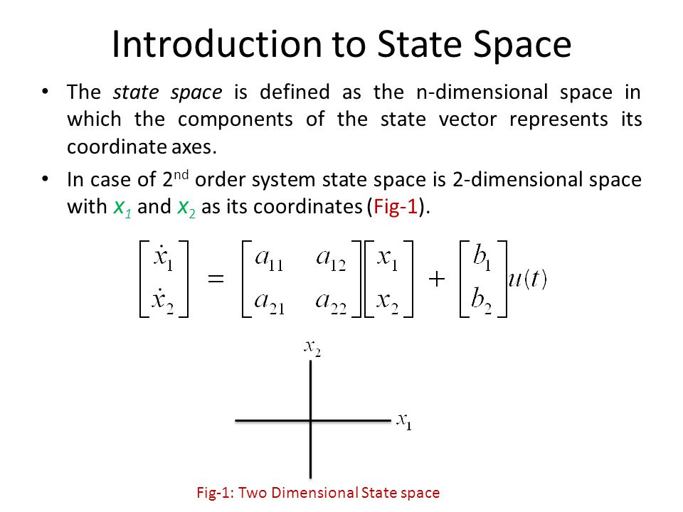 Introduction to State Space