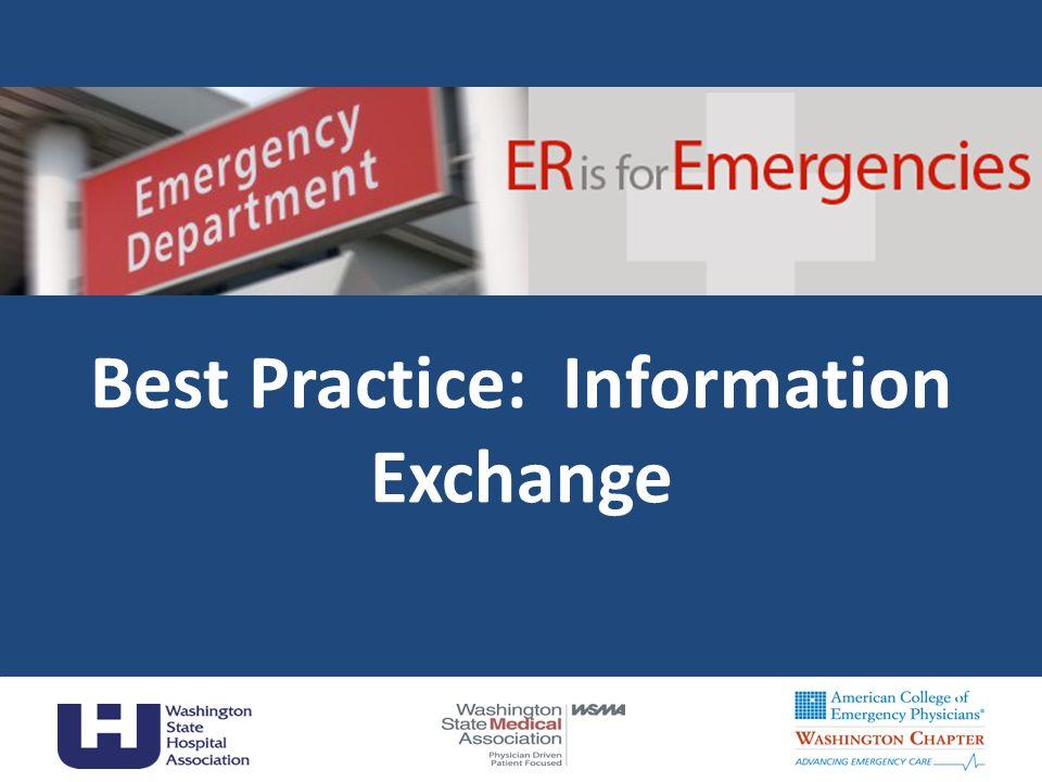Best Practice: Information Exchange