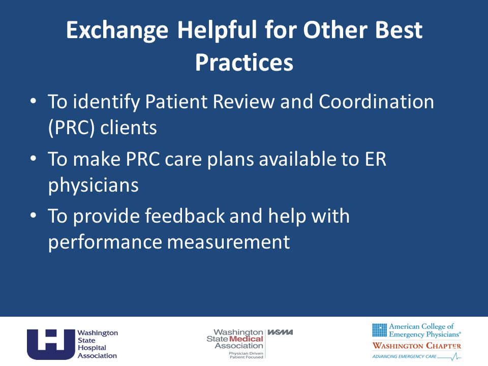 Exchange Helpful for Other Best Practices