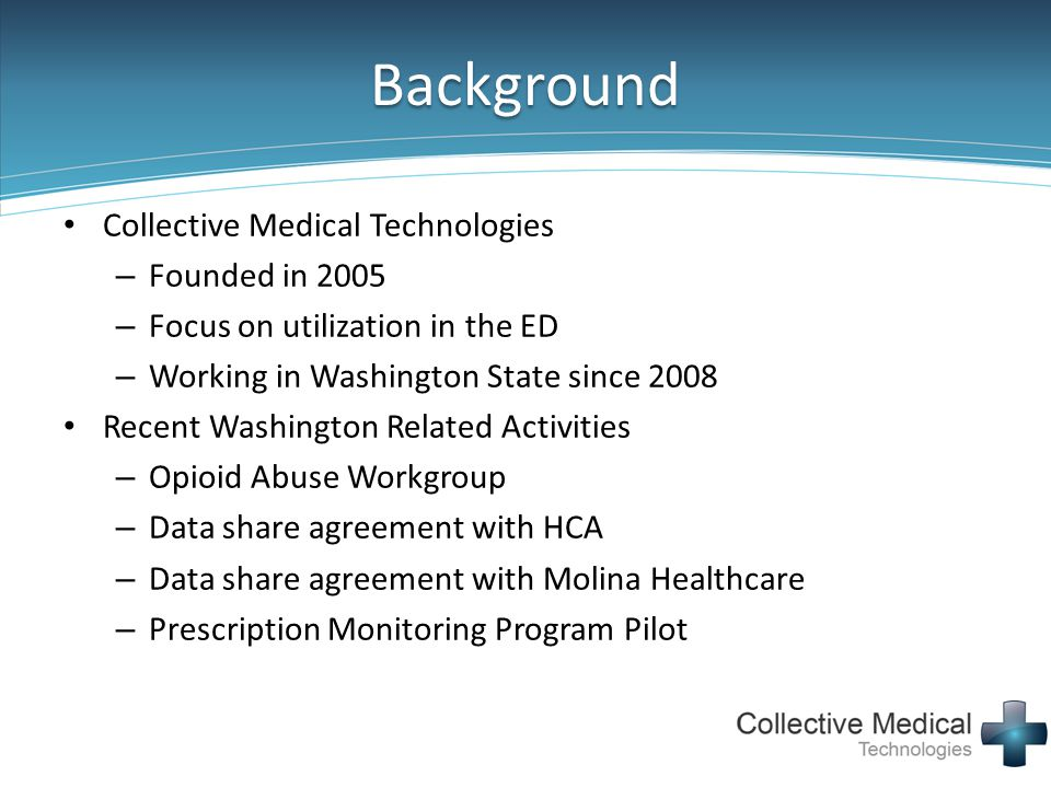 Background Collective Medical Technologies Founded in 2005