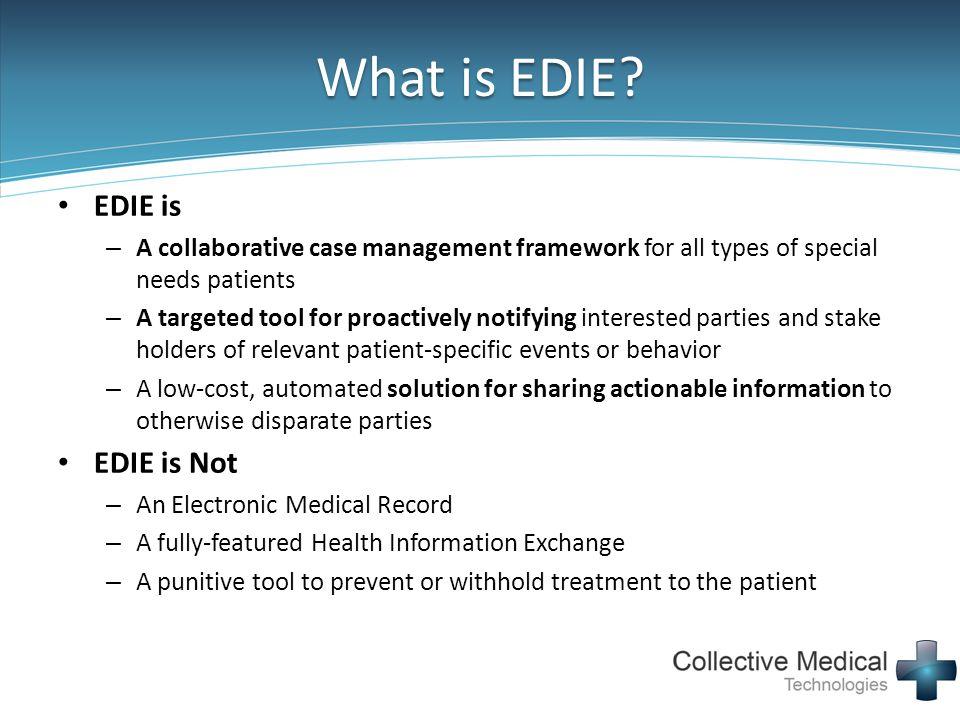 What is EDIE EDIE is EDIE is Not