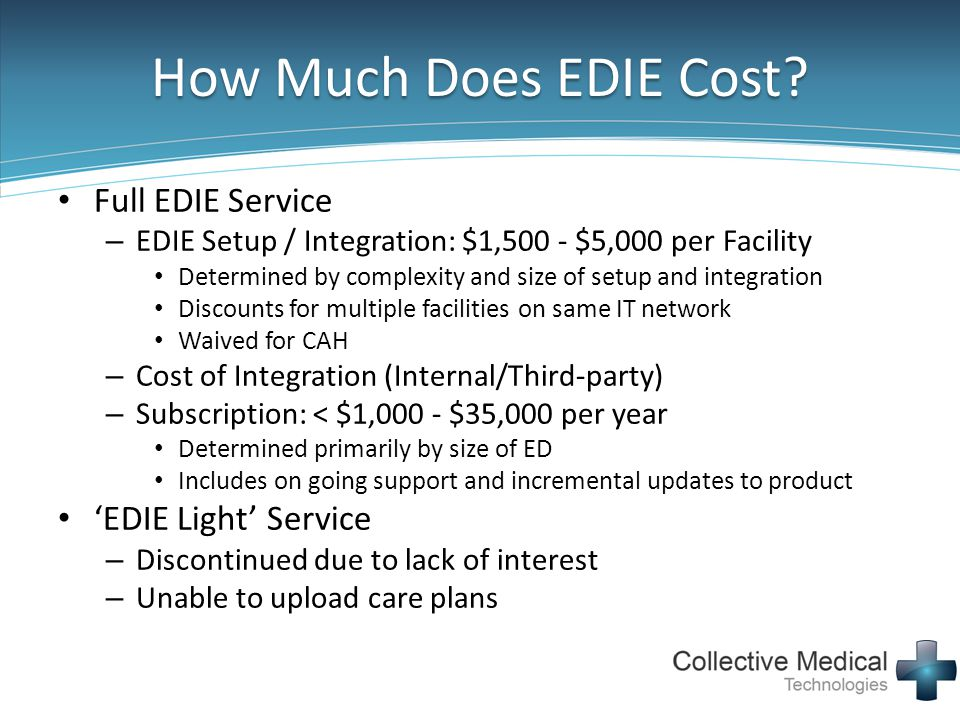 How Much Does EDIE Cost Full EDIE Service 'EDIE Light' Service