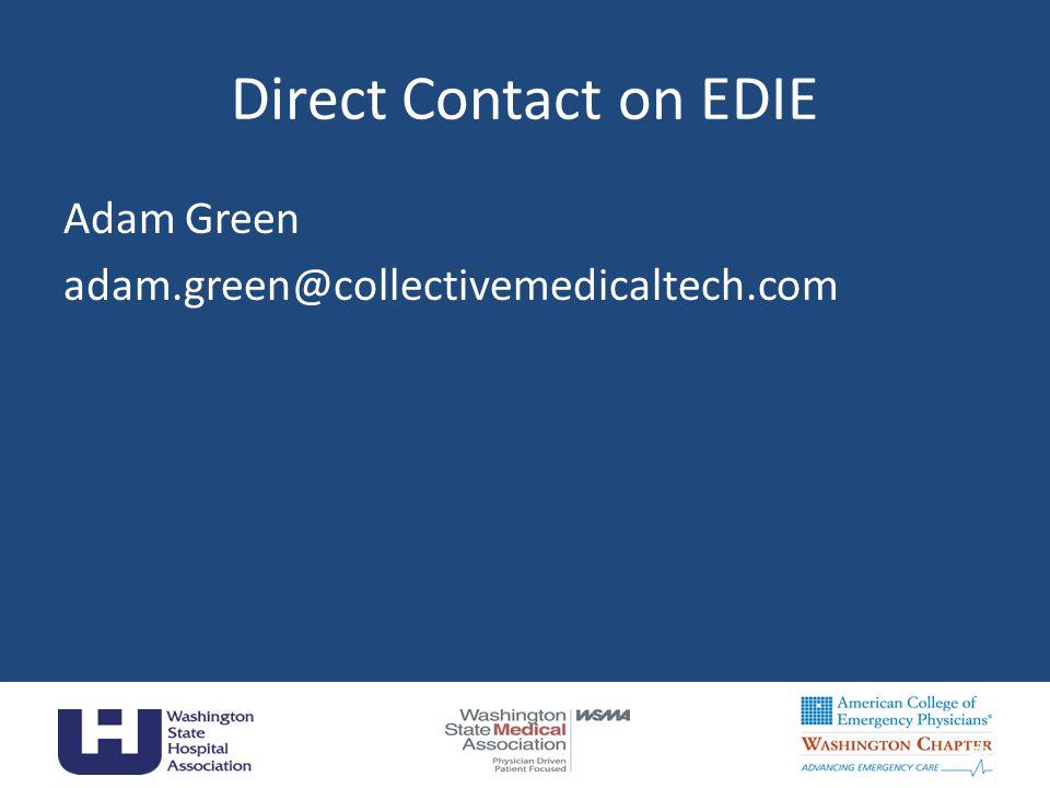 Direct Contact on EDIE Adam Green adam.green@collectivemedicaltech.com